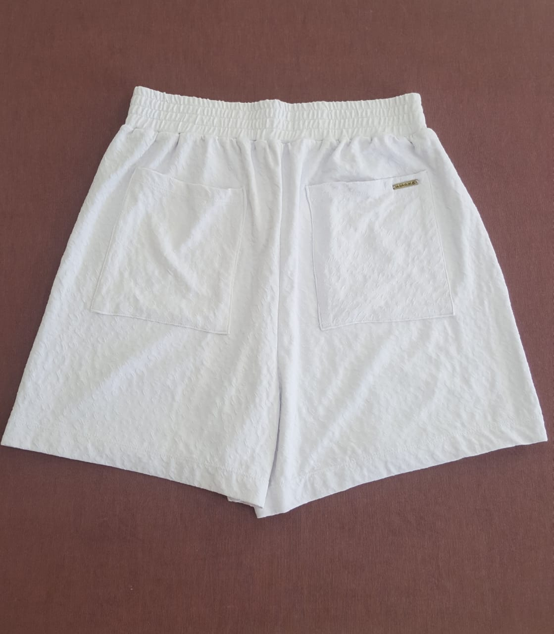 Shorts boyfriend Branco Karina
