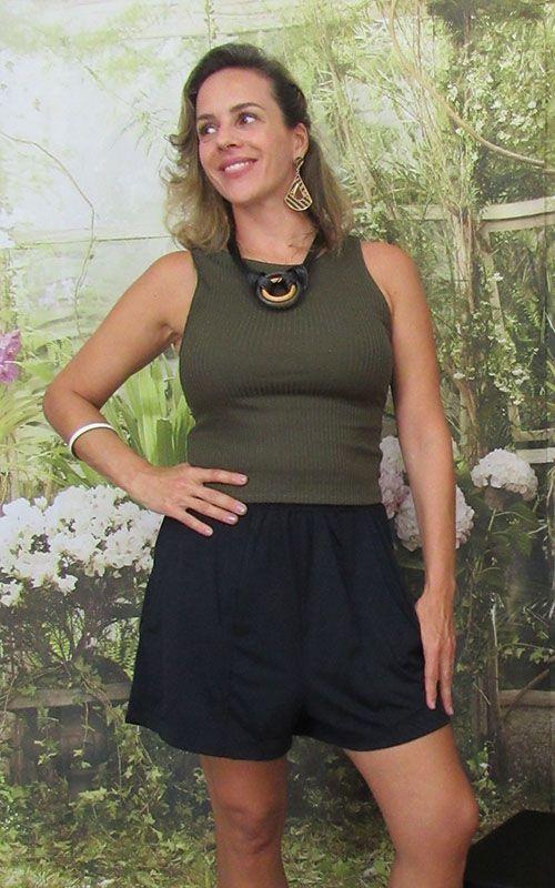 Shorts Karina de fluity Preto