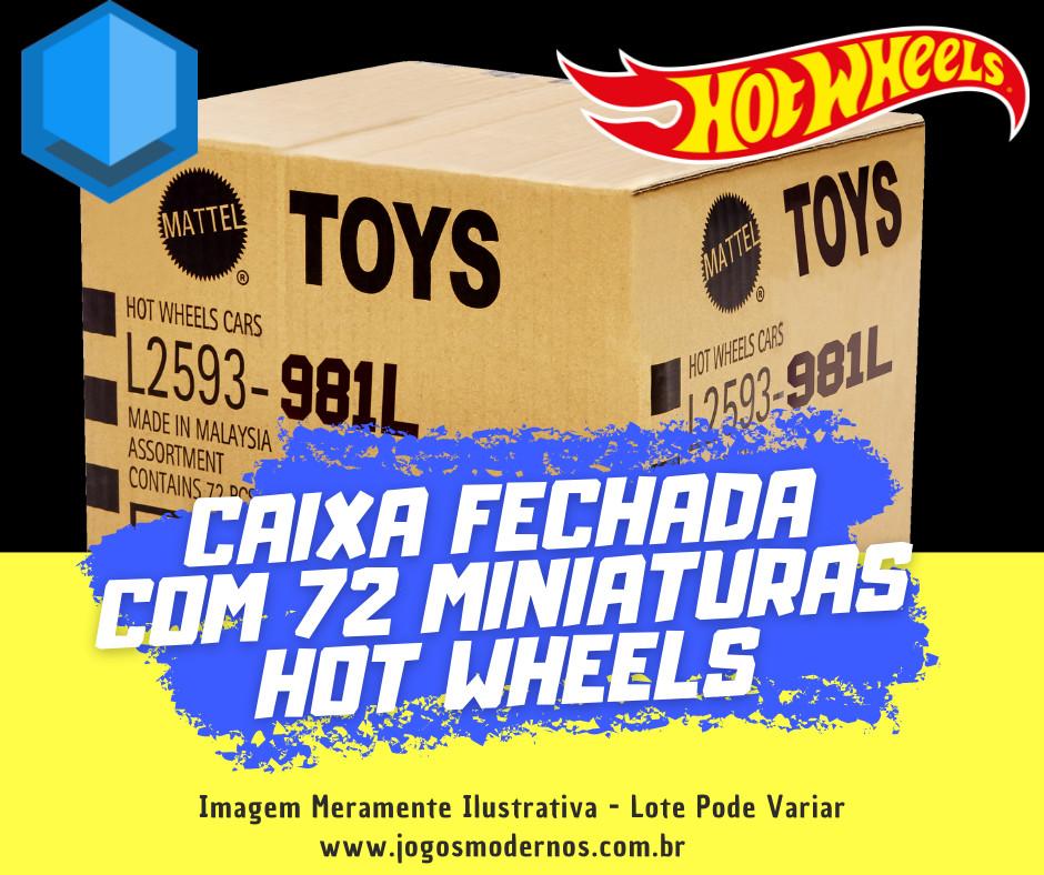 Caixa Fechada com 72 Miniaturas Hot Wheels