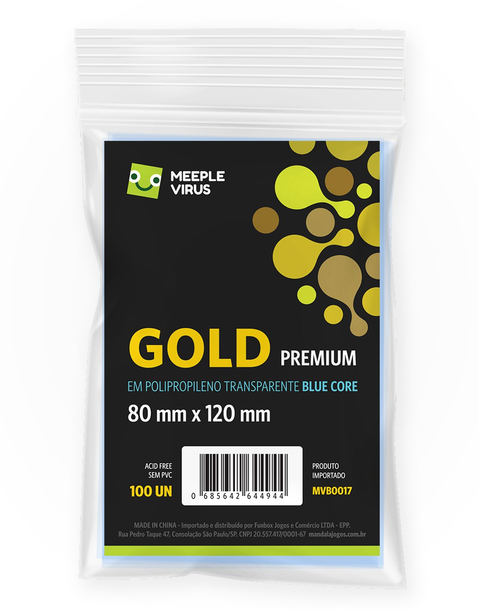 SLEEVES GOLD PREMIUM BLUE CORE (80X120MM)