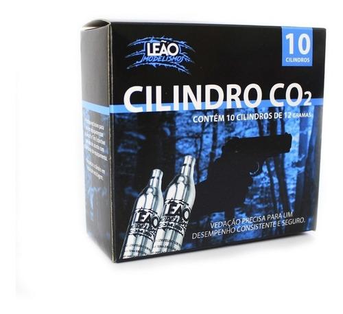 10x Cilindros Co2 Leão 12g Pistola Airsoft 12 Gramas Arma Gas