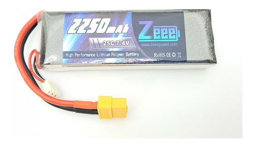 Bateria Lipo Zee Power 2250mah 7.4v 2s 25c