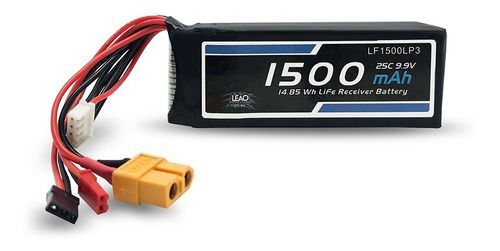Bateria Life 9.9v 3s 1500mah 25c Futaba/jst/xt60 Leão