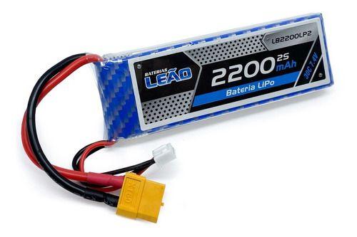 Bateria Lipo Leão 2s 7.4v 2200mah 30c Xt60