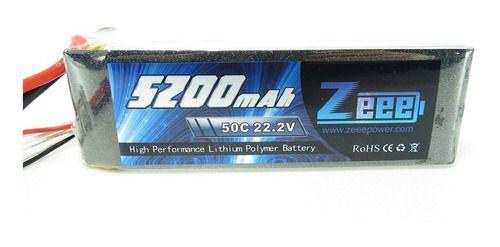 Bateria Lipo Zeee Power 5200mah 22.2v 6s 50c