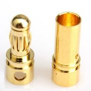 Conector Bullet 3.5mm - Par Macho e Femea