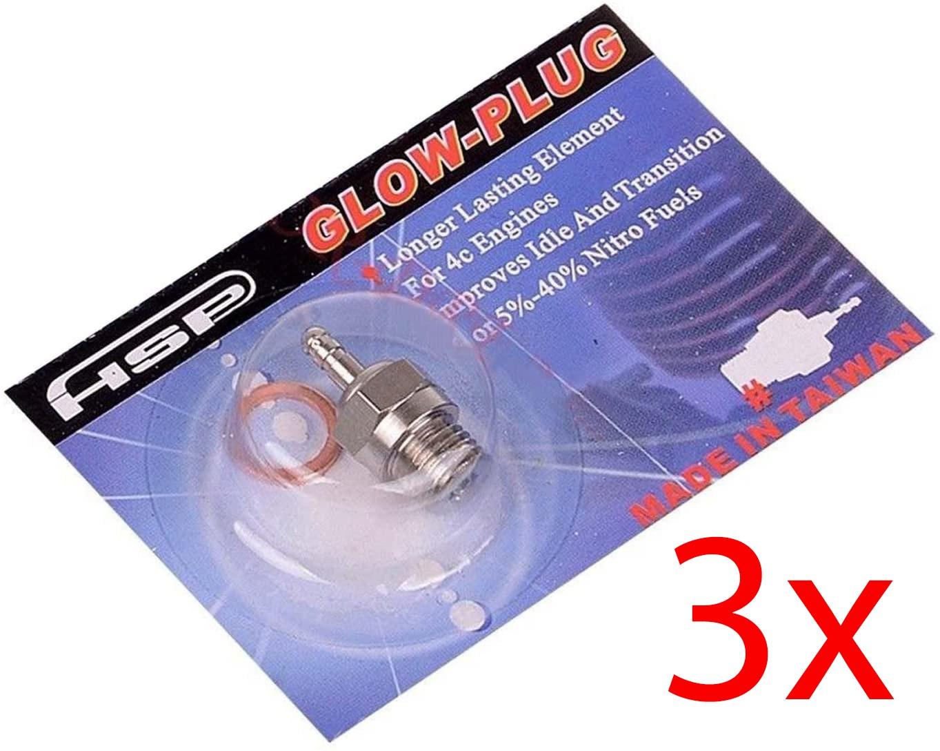 3x Vela Glow Plug Hsp N3 Hot / Quente