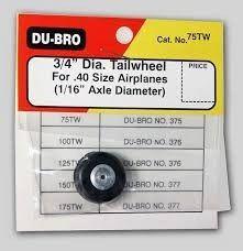 Pneu Bequilha Traseira Dubro Tail Wheel 3/4Pol 20mm
