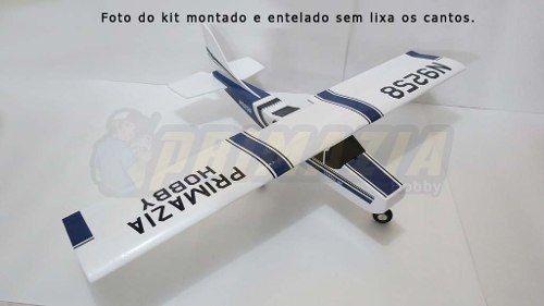 Kit Aeromodelo Cessna 182 150cm Isopor + Vinil + Decals