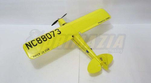 Kit Aeromodelo Piper J3 Para Montar + Vinil + Decals