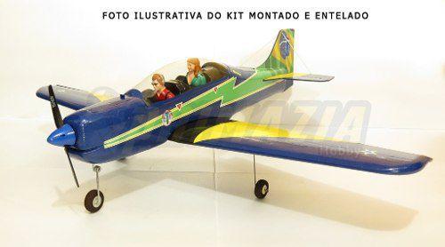 Kit Aeromodelo Tucano 130cm Isopor Depron + Decals