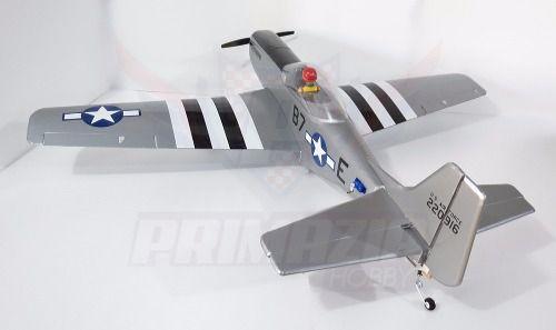 Kit Aeromodelo P-51 Mustang 120cm Isopor + Decals + Vinil
