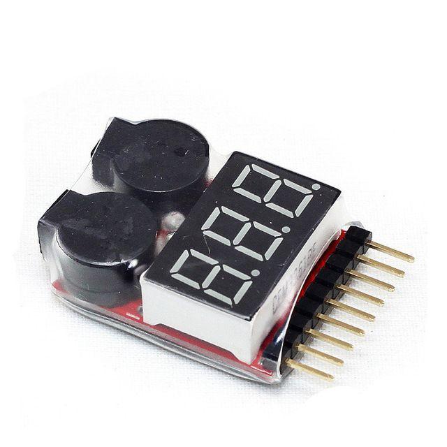 Alarme Medidor Lipo Buzzer 2s a 8s Com Visor ( Sem Case )