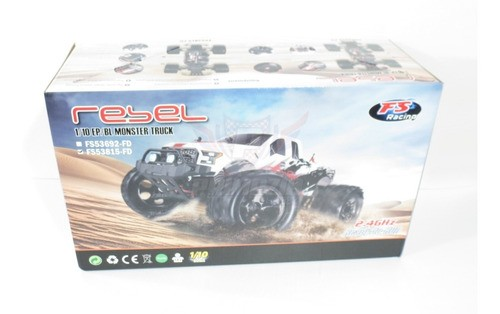 Automodelo Eletrico 4x4 Monster Truck 1/10 Rtr 4wd 2.4ghz