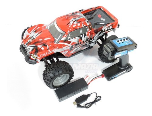 Automodelo Eletrico 4x4 Outlander Monster Truck 1/10 4wd