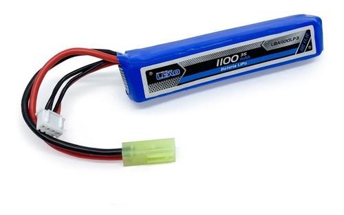 Bateria Lipo 11.1v 3s 1 Pack 1100mah 20c Airsoft