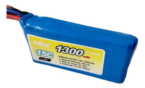 - Bateria Lipo 1300mah 2s 7.4v 15c Airsoft Aeg Arma FFB-006