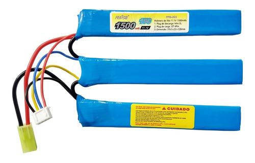 - Bateria Lipo 1500mah 3s 11.1v 15c Airsoft Aeg Feasso FFB-002