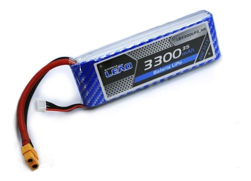 Bateria Lipo 3300mah 11.1v 3s 50c-100c Xt60 Automodelos Heli