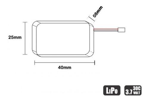 Bateria Lipo 3.7v 1s 530mah 30/60c - Mini Drone - JST