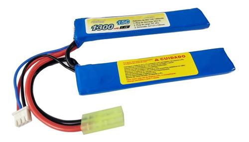 Bateria Lipo Airsoft 1300mah 2s 7.4v 15c Aeg Feasso FFB-021
