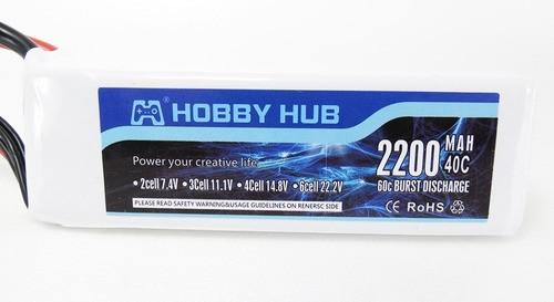 Bateria Lipo Hobby Hub 2200mah 14.8v 4s 40c-80c Xt60