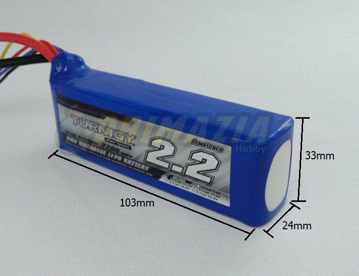 Bateria Lipo Turnigy 2200mah 3s 11.1v 20-30c