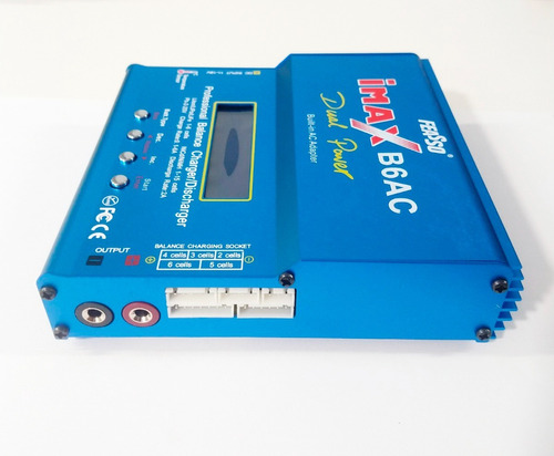 Carregador Balanceador Feasso de Bateria Lipo Life Nimh FF-B6AC