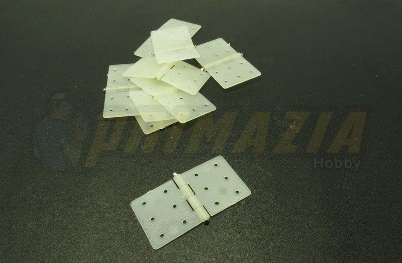 Dobradiça de Nylon 20x36mm - 10 peças