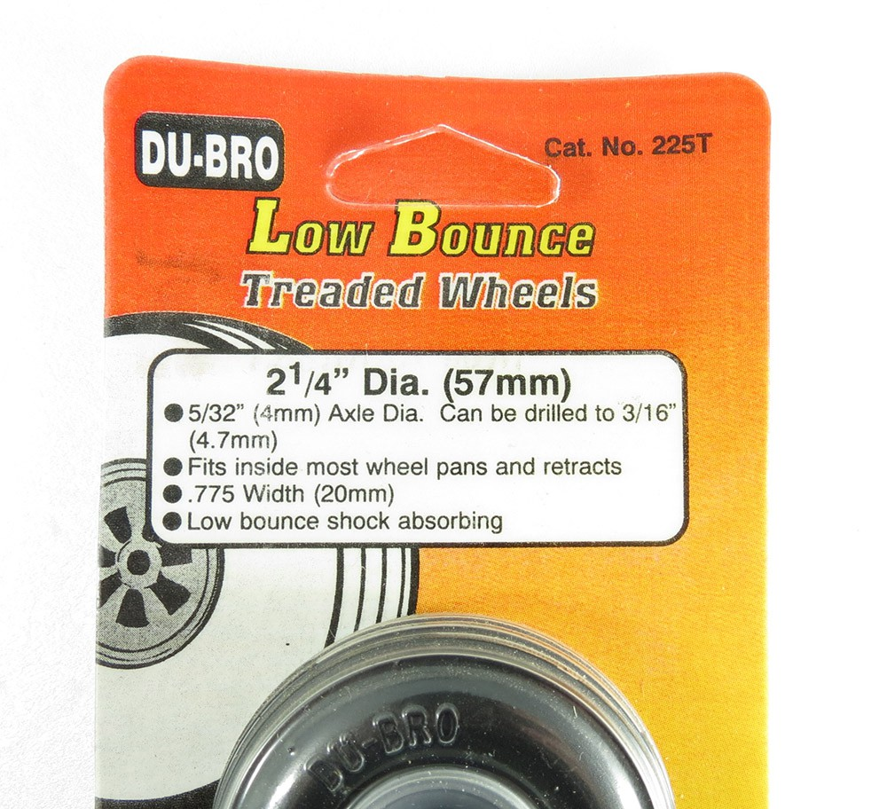 Roda De Borracha Dubro 2-1/4Pol 57mm - DUB225T