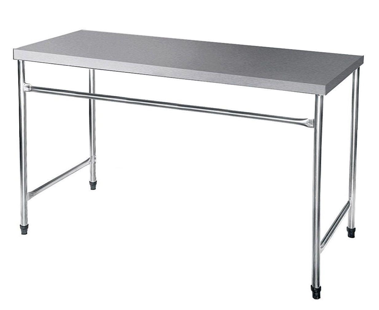 Bancada / Mesa Em Aço Inox (130x60x85)