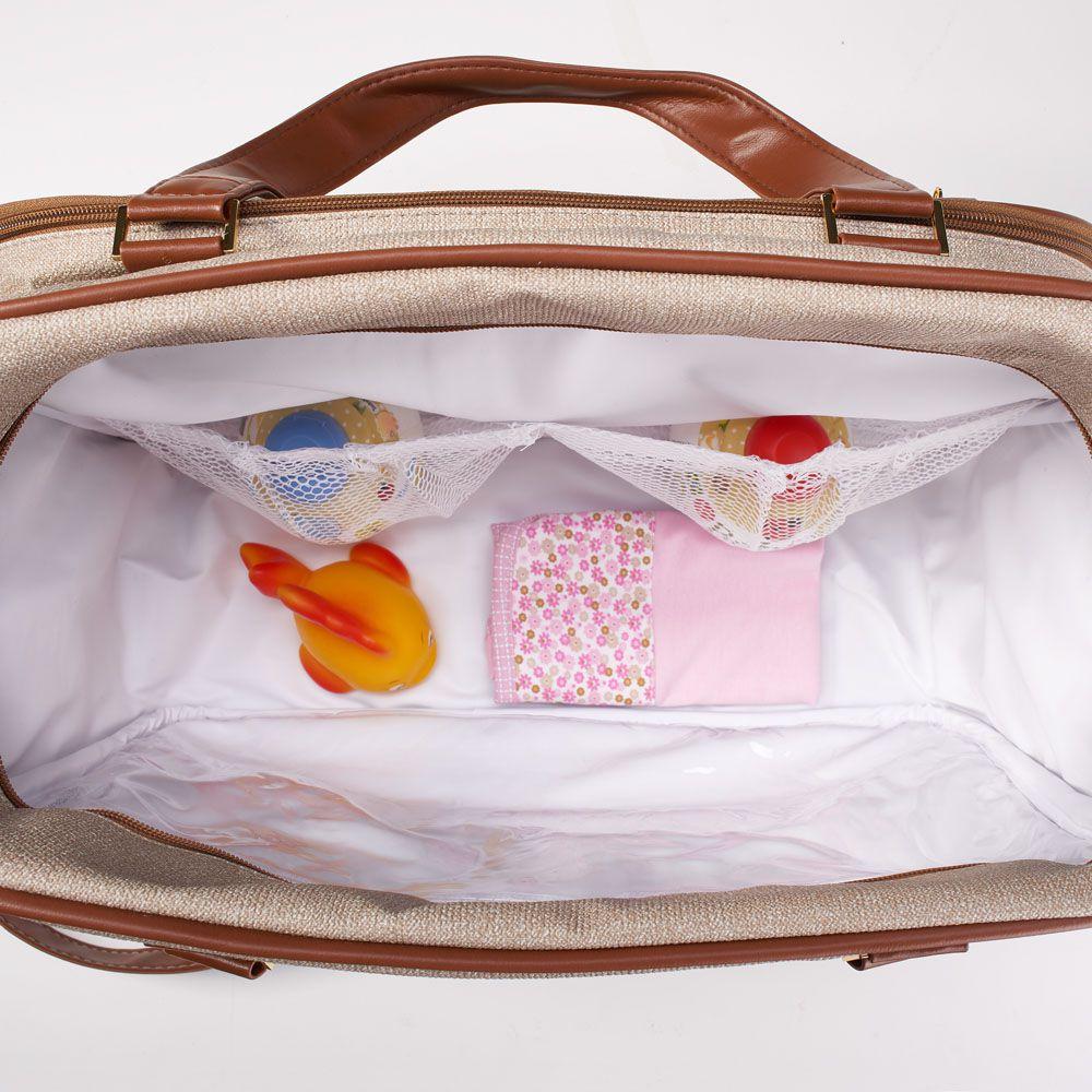Kit Bolsa, Frasqueira, Mochila E Mala De Maternidade Chicago Jeans Just Baby