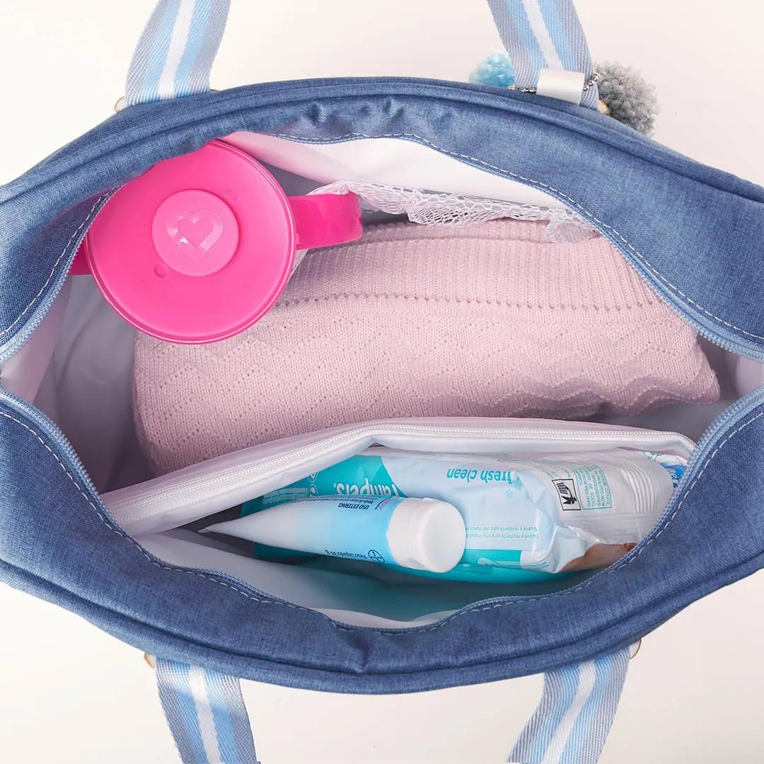 Kit Maternidade Mala, Bolsa e Frasqueira Color Azul Just Baby