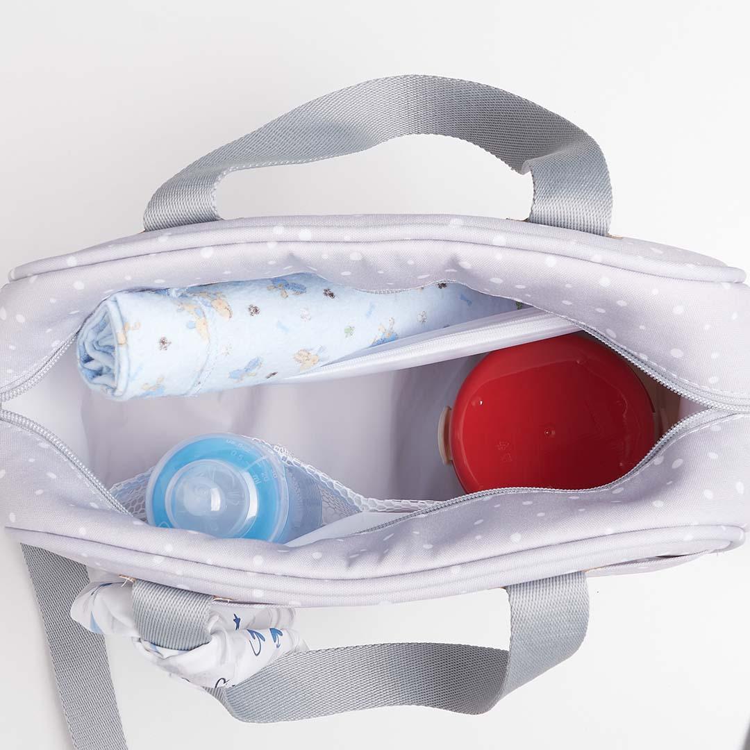 Kit Maternidade Mala, Bolsa e Bolsa Térmica P Bunny Cinza