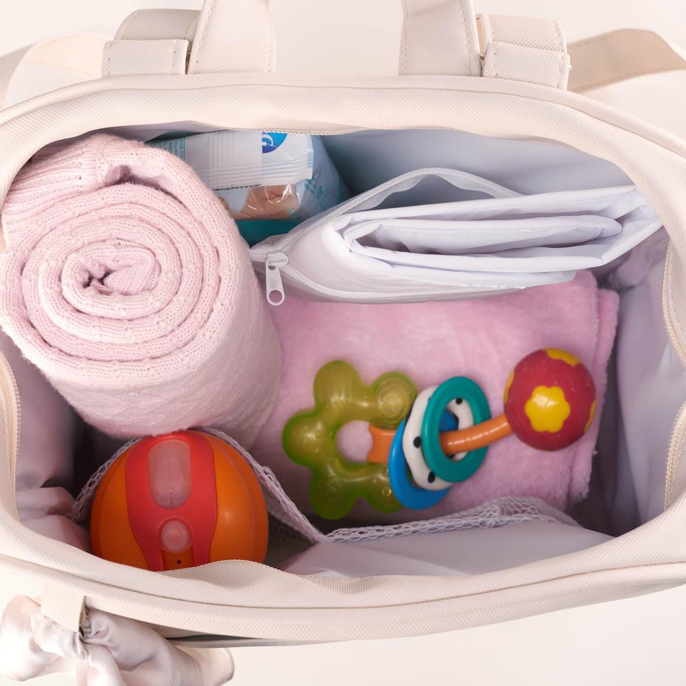 Kit Maternidade Mala, Bolsa e Bolsa Térmica Pequena Candy Bege