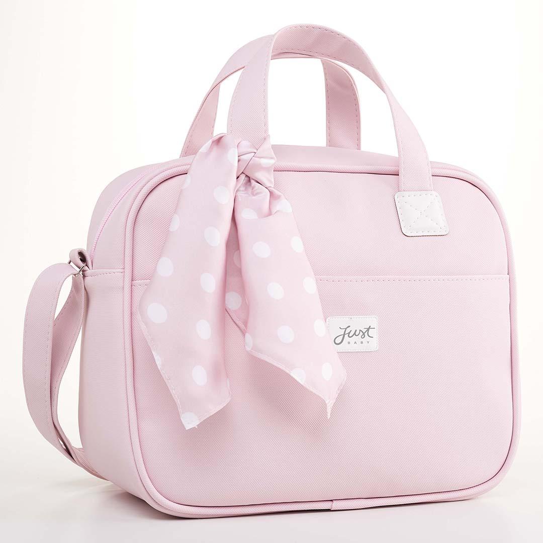 Kit Maternidade Mala, Bolsa e Bolsa Térmica Pequena Candy Rosa