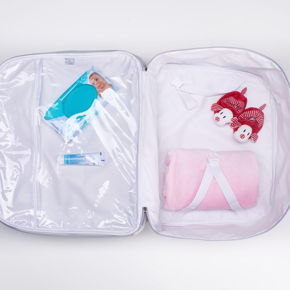 Kit Maternidade Mala, Bolsa e Frasqueira Star Rosa