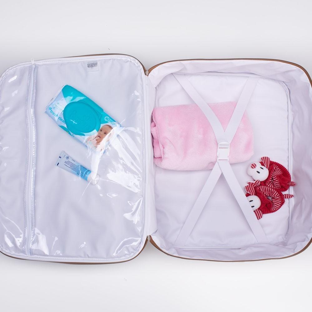Kit Maternidade Mala, Bolsa e Frasqueira Térmica Liverpool Just Baby