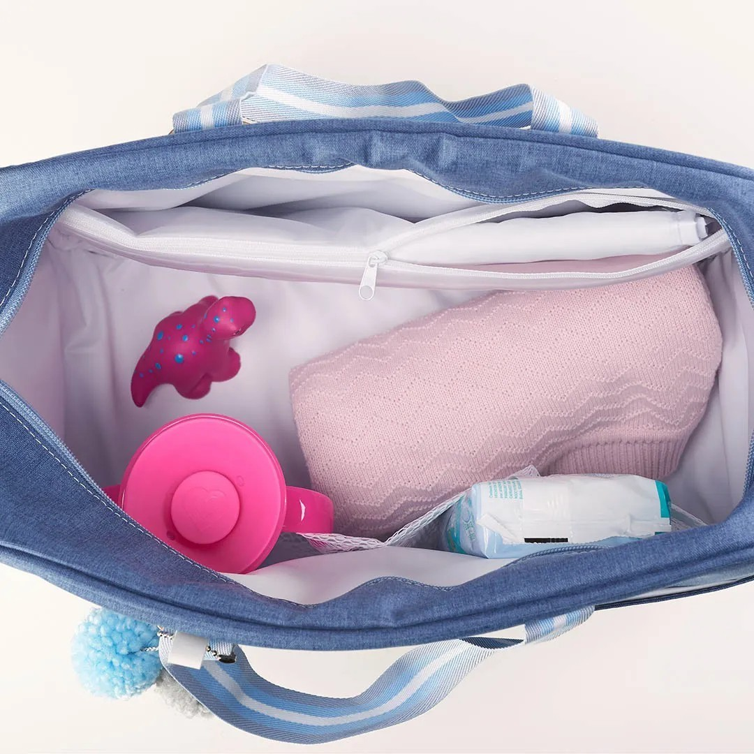 Kit Maternidade Mala, Bolsa e Mochila  Color Azul Just Baby