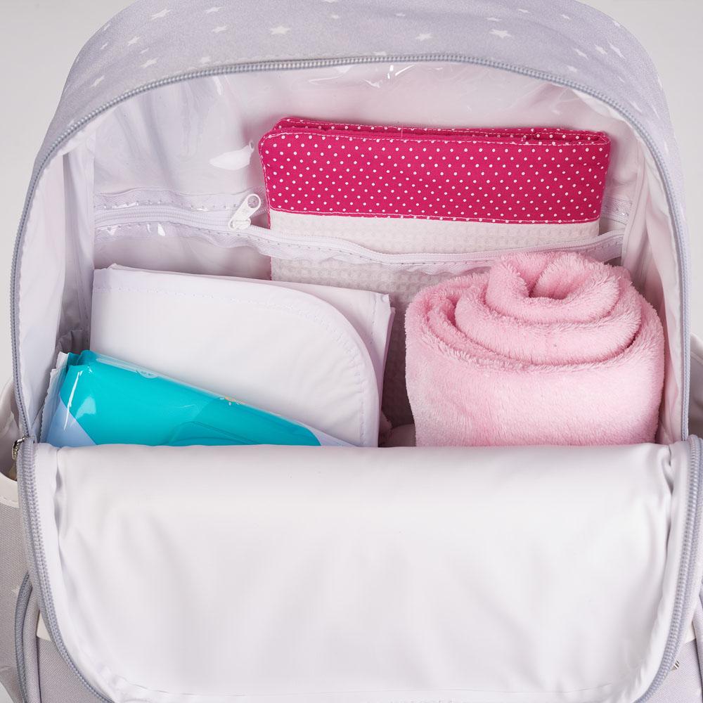 Kit Maternidade Mala, Bolsa e Mochila Star Rosa