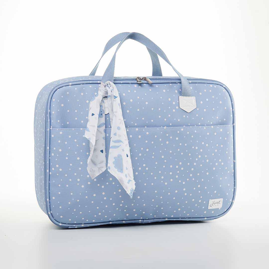 Kit Maternidade Mala, Bolsa e Mochila Térmica P Bunny Azul