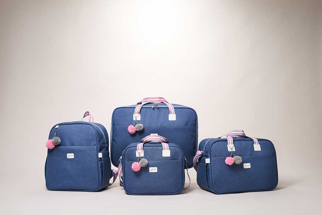 Kit Maternidade Mala, Bolsa, Mochila e Bolsa Térmica Pequena Color Rosa