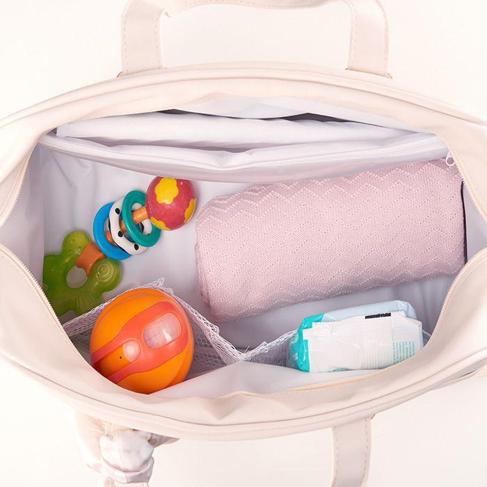 Kit Maternidade Mala, Bolsa, Frasqueira Térmica Candy Bege Hey Baby