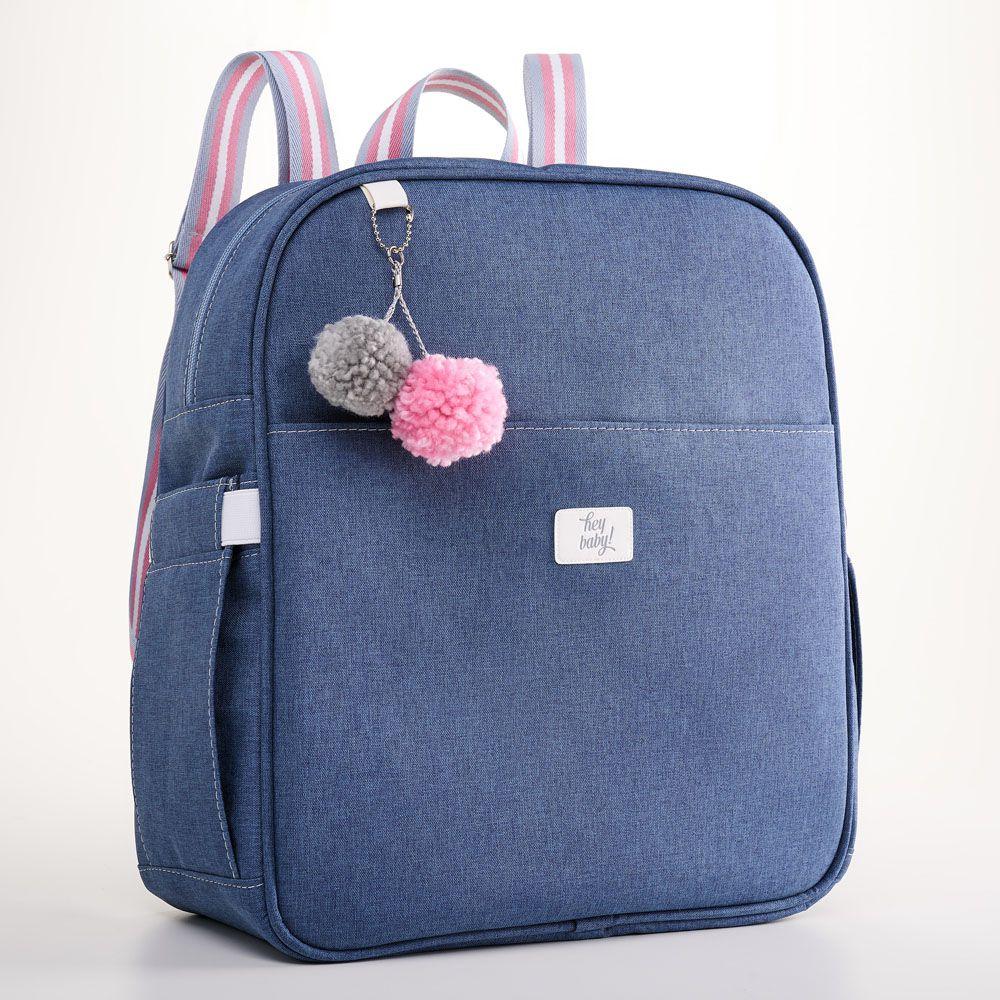 Kit Maternidade Mala, Bolsa, Mochila E Frasqueira Térmica Color Rosa Hey Baby