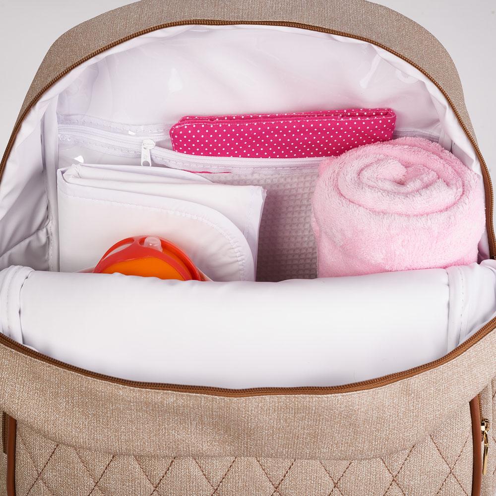 Kit Maternidade Mala Dupla, Bolsa G, Mochila e Bolsa Térmica Pequena Chicago Jeans