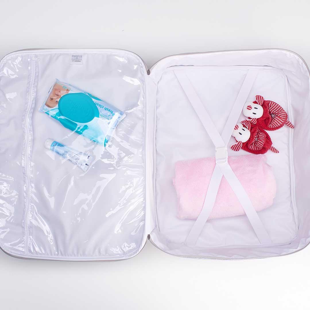 Kit Maternidade Mala, Mochila e Frasqueira térmica Candy Marinho