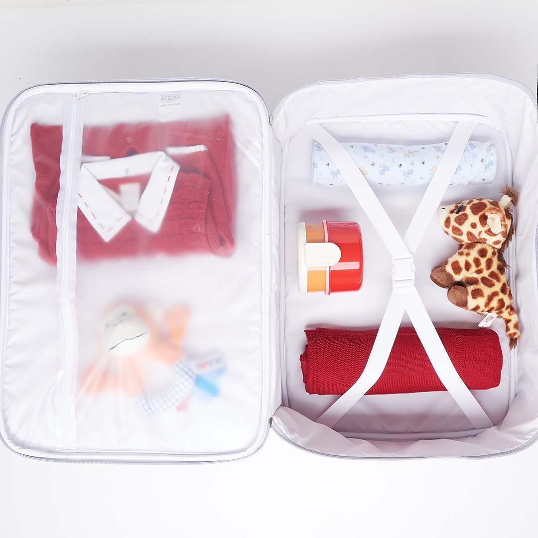 Kit Maternidade Mala, Mochila, Frasqueira Térmica e Kit Organizador Candy Rosa