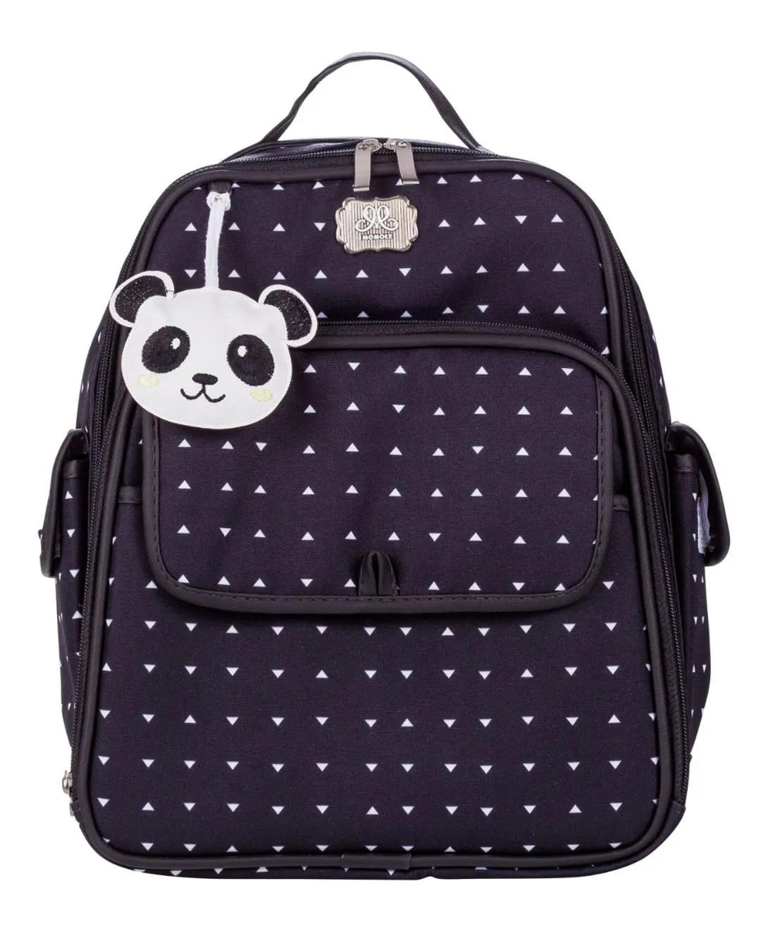 Mochila Maternidade Térmica Panda Preto Momole