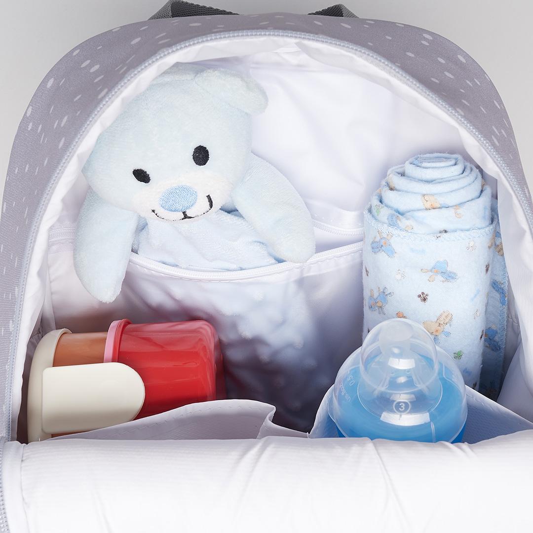Mochila Maternidade Térmica G Bunny Azul