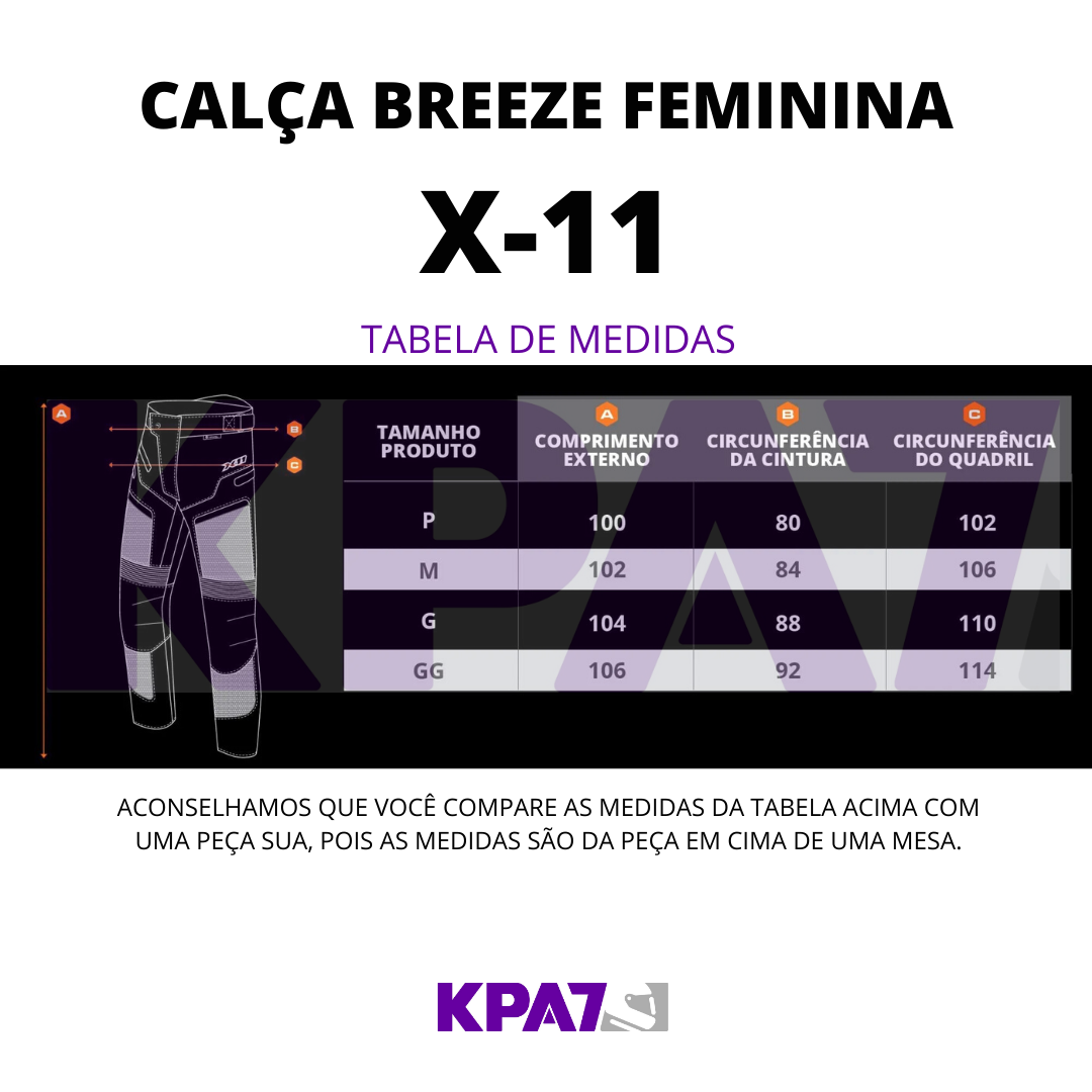 CALÇA X11 BREEZE FEM PRETO
